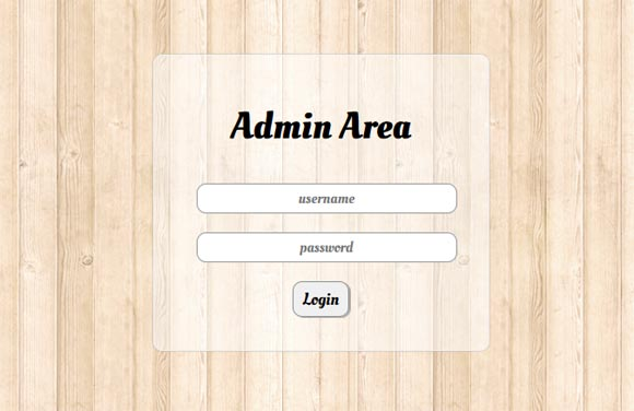 Login form PHP, Jquery,CSS3